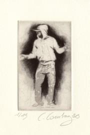 hip hop danse photopolymère et manière noire sur cuivre