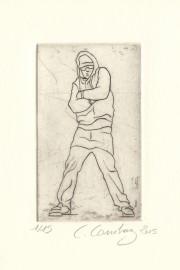 Hip hop danse burin sur cuivre