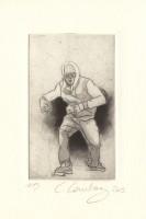 Hip hop danse burin et aquatinte sur cuivre