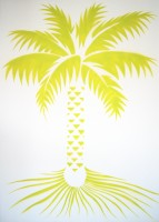 pochoir palmier