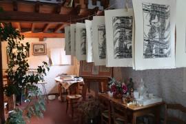 impression des gravures de Bernard Rey - tirages dans l'atelier