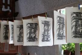 impression des gravures de Bernard Rey - le couvent de la Grande Chartreuse