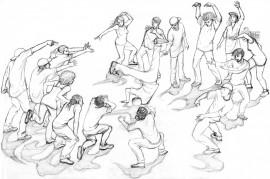 hip hop battle - dessin préparatoire
