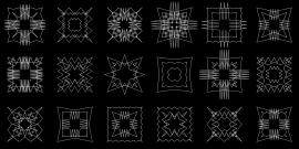 Processing - motifs carrés aléatoires