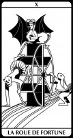 tarot E.Helly & C.Combaz - la roue de fortune