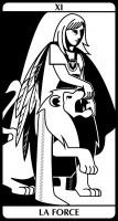 tarot E.Helly & C.Combaz - la force