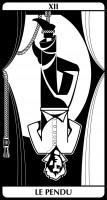 tarot E.Helly & C.Combaz - le pendu