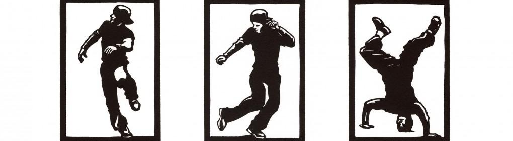 hip hop danse linogravure